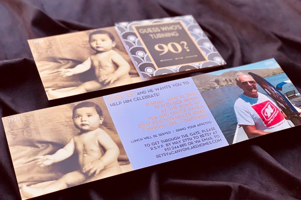 Invitation for 90th birthday party