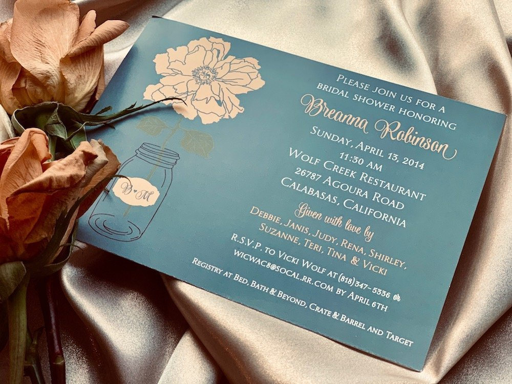 custom bridal shower invitation