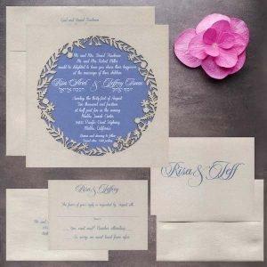 Laser cut invitation suite