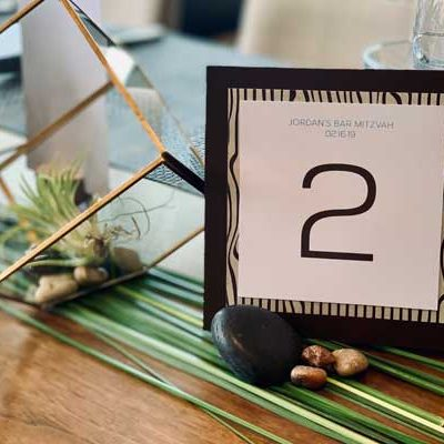 Party Event Decor; table number sign